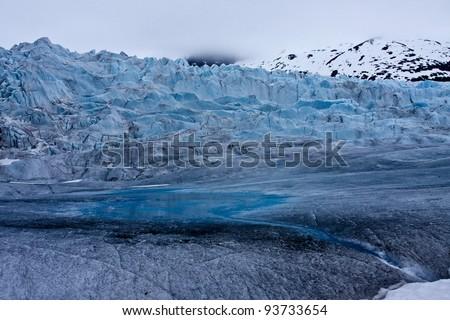 Ice Climbers on Mendenhall Glacier - stock photo