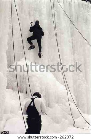 Ice Climbing at the Rock And River