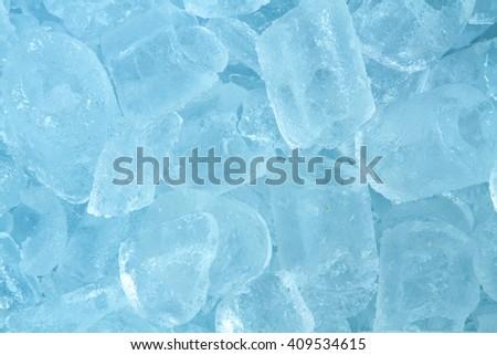 ice close up background - stock photo