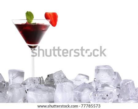 Ice cocktail drink