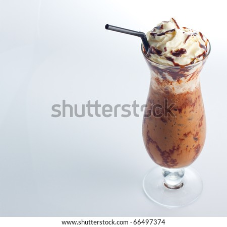 Ice coffee. - stock photo