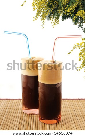 ice coffee (frappe) summer time - stock photo