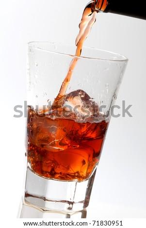 Ice Cola Refreshment - stock photo
