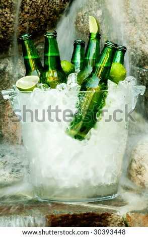 Ice Cold Beer - stock photo