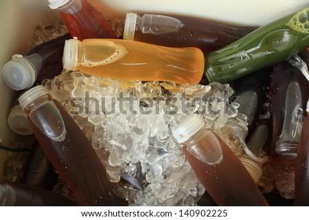 Ice Cold Juice. - stock photo