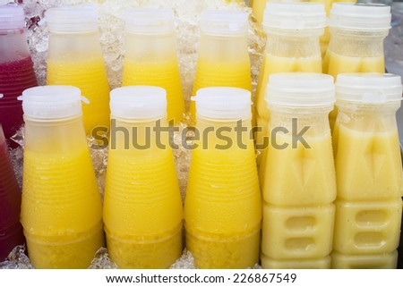 Ice Cold Juice Bottle - stock photo
