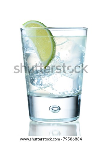 Ice-cold refreshing drink - stock photo