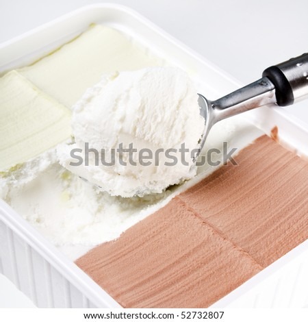 Ice cream closeup - stock photo