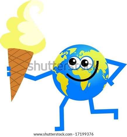 ice cream globe - stock photo