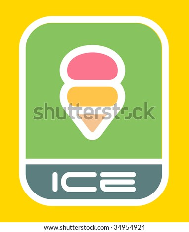 Ice cream icon.