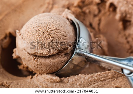 ice cream in a bowl with leaf  - stock photo