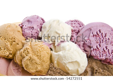 ice cream  isolated on white background - stock photo