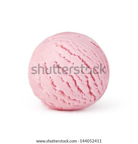 ice cream on white background - stock photo