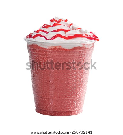 Ice Cream on white background - stock photo