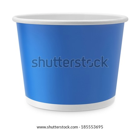 ice cream paper cup  on white background