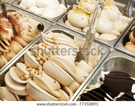 Ice cream parlors - stock photo