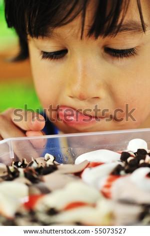 Ice cream temptation - stock photo