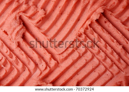 Ice-cream texture: strawberry. Appetizing ice-cream background