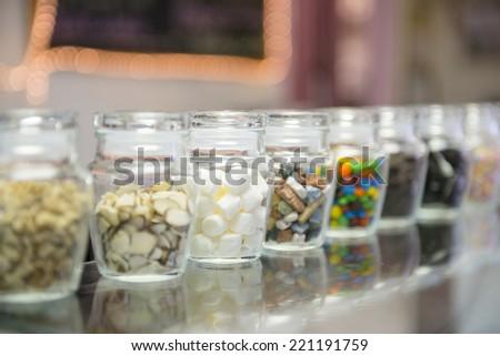 Ice-cream toppings - stock photo