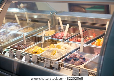 ice cream trays - stock photo