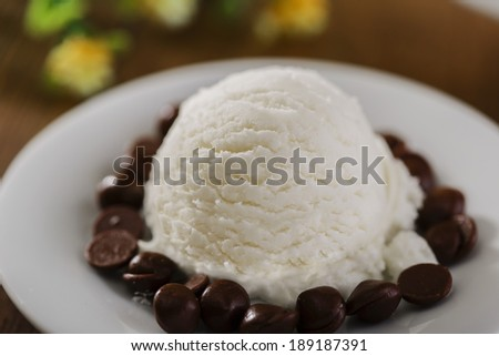 ice cream with chocolate