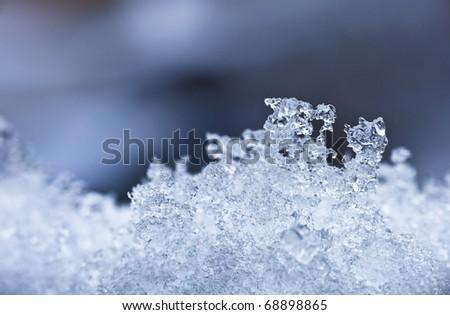 Ice crystal background - stock photo