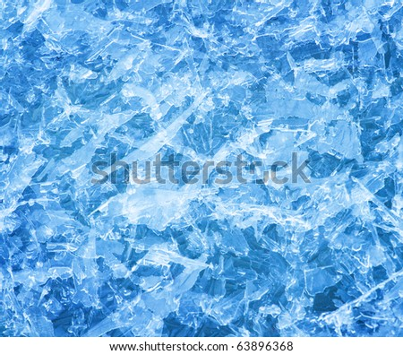 Ice crystals background