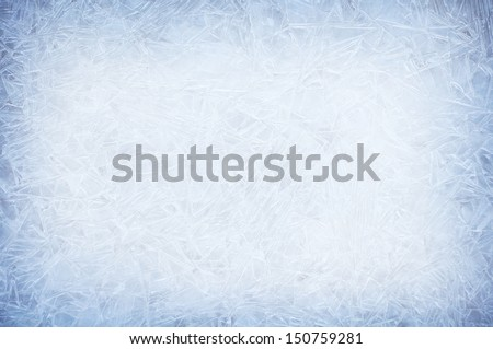 ice crystals, backround - stock photo