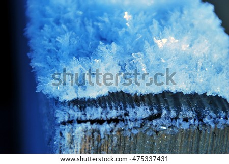 Ice Crystals on Wood