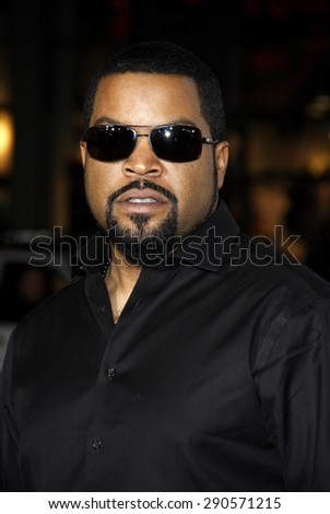 "Ice Cube at the Los Angeles premiere of ""Ride Along"" held at the TCL Chinese Theatre in Los Angeles on January 13, 2014 in Los Angeles, California.  - stock photo"