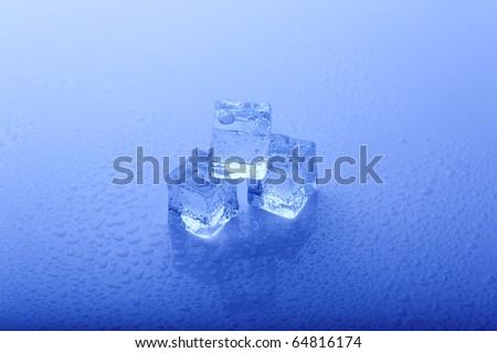Ice cubes - stock photo