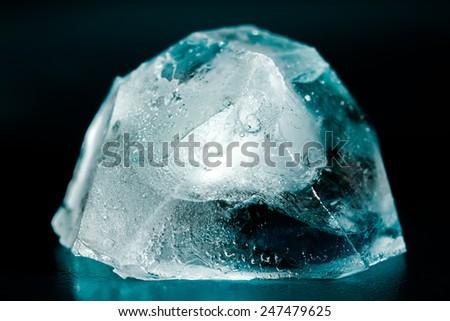 Ice cubes close up. - stock photo