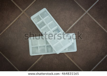 Ice cubes in block molds