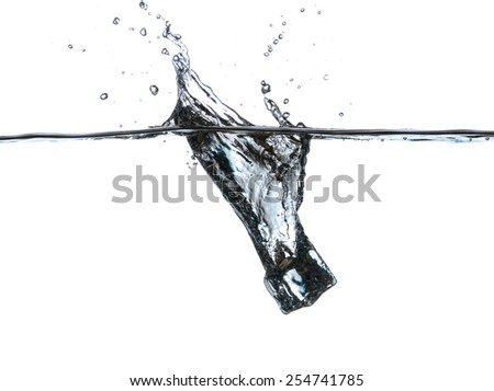 Ice cubes in water - stock photo
