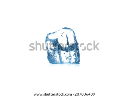 ice cubes Isolated on white background