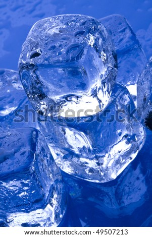 ice cubes on glass