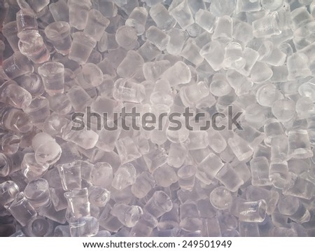 Ice cubes pattern background. - stock photo