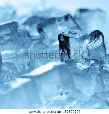 ice cubes very close up - stock photo