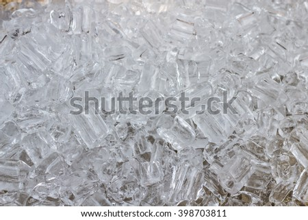 Ice cubes with drops