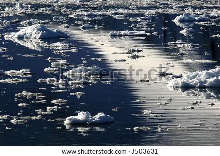 Ice dreamscape - stock photo