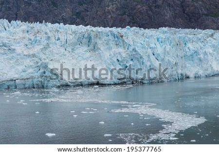 Ice float on the sea at Margerie Glacier in Glacier Bay National Park and Preserve, Alaska, USA - stock photo
