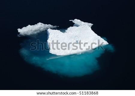 Ice floe in Nunavut (canadian arctic sea) - stock photo
