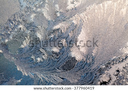 Ice flowers on glass - texture and background. High resolution and sharp, beautiful details