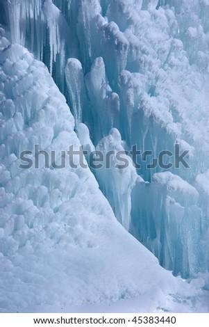 Ice fountain - stock photo