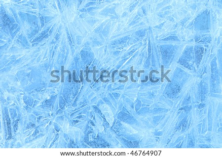 ice frozen water natural background - stock photo