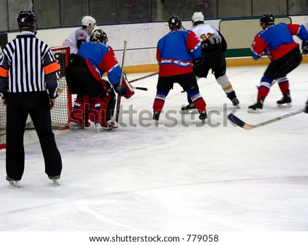 Ice hockay game - stock photo