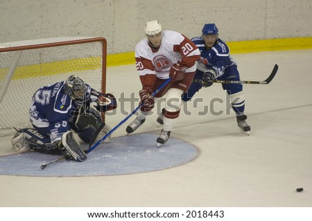 Ice hockey. Frame #4 - stock photo