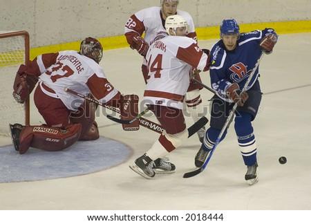 Ice hockey. Frame #5 - stock photo