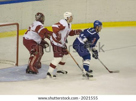 Ice Hockey. Frame #3. Chain - stock photo