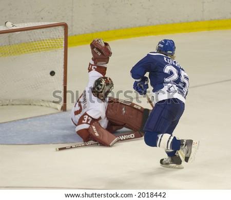 Ice hockey. Frame #3. Goal. - stock photo
